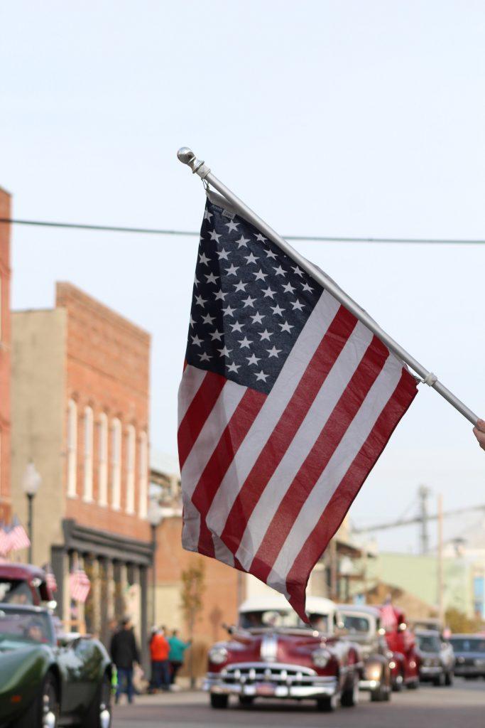 American Flag Car Parade
