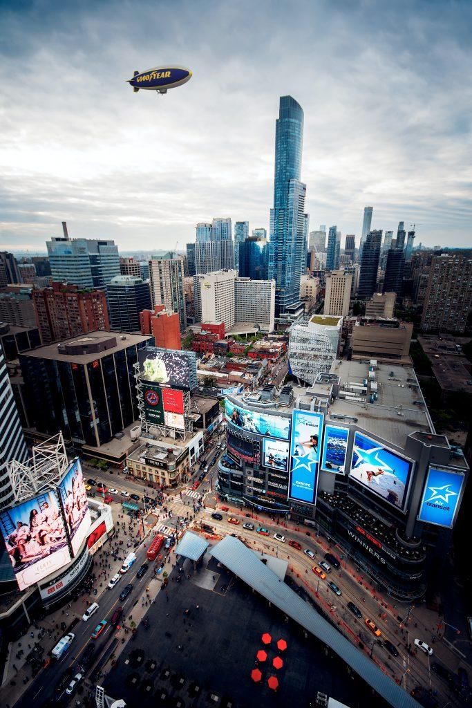The Goodyear Blimp over Toronto