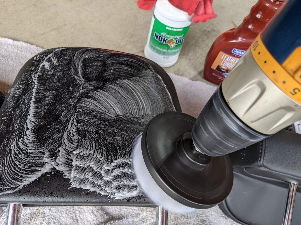 Car Odor Treatment drill brush detail