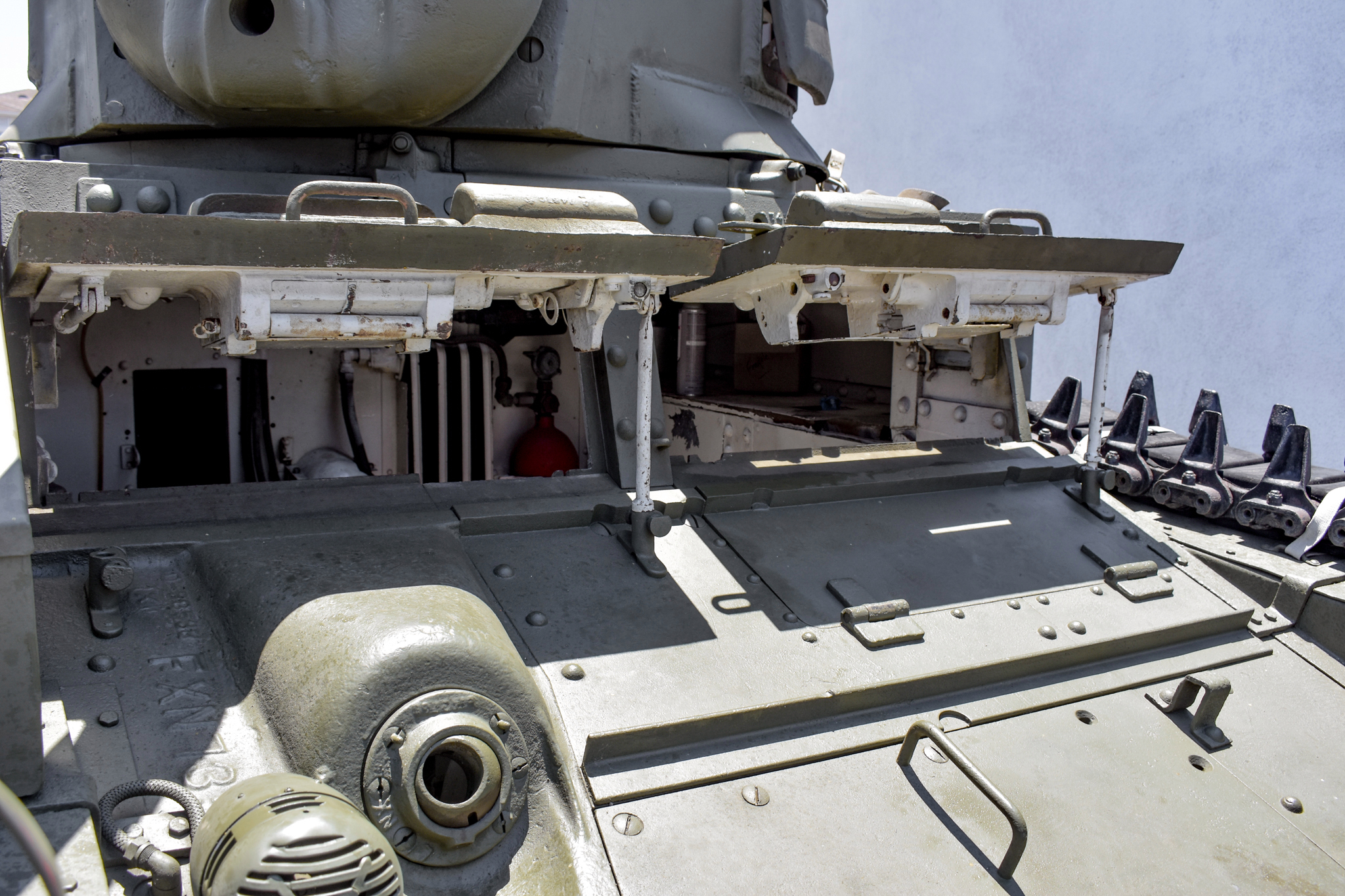 1941 M3 Stuart Tank front hatches