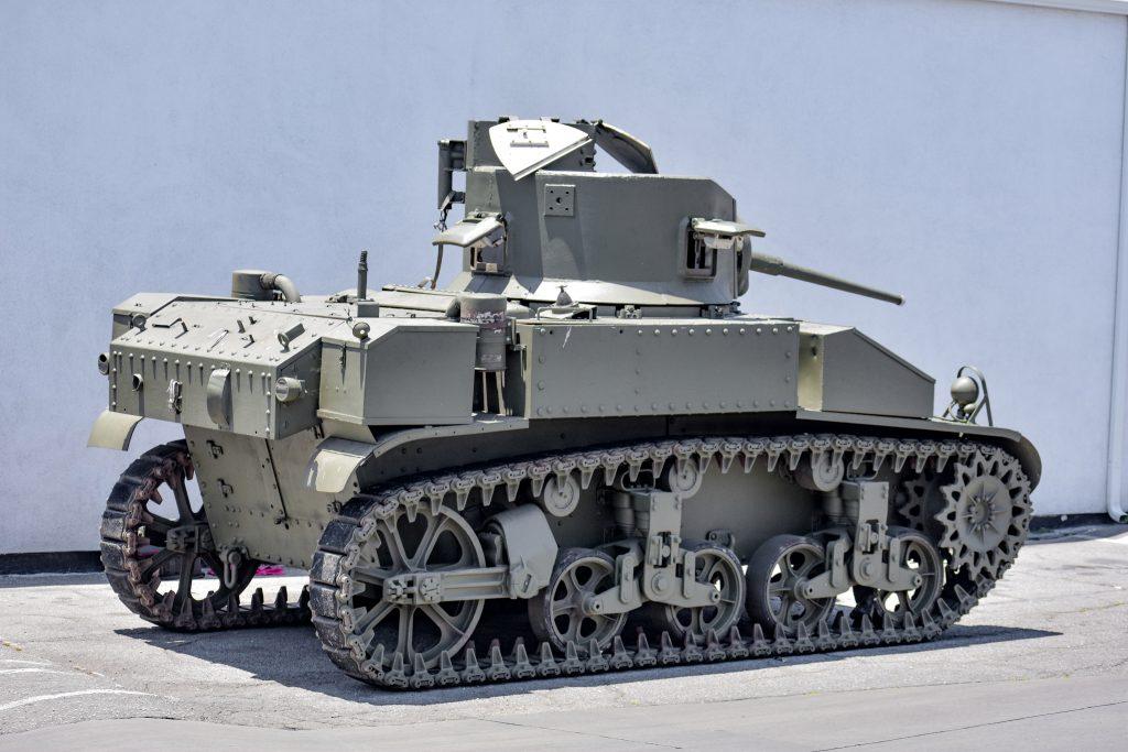 1941 M3 Stuart Tank rear three-quarter