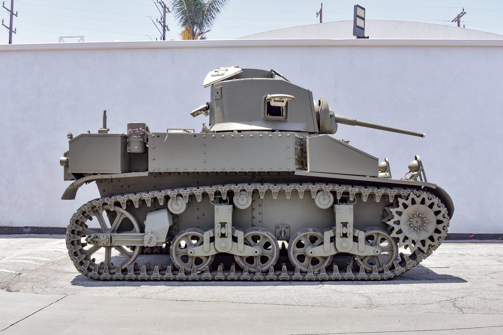 1941 M3 Stuart Tank side profile