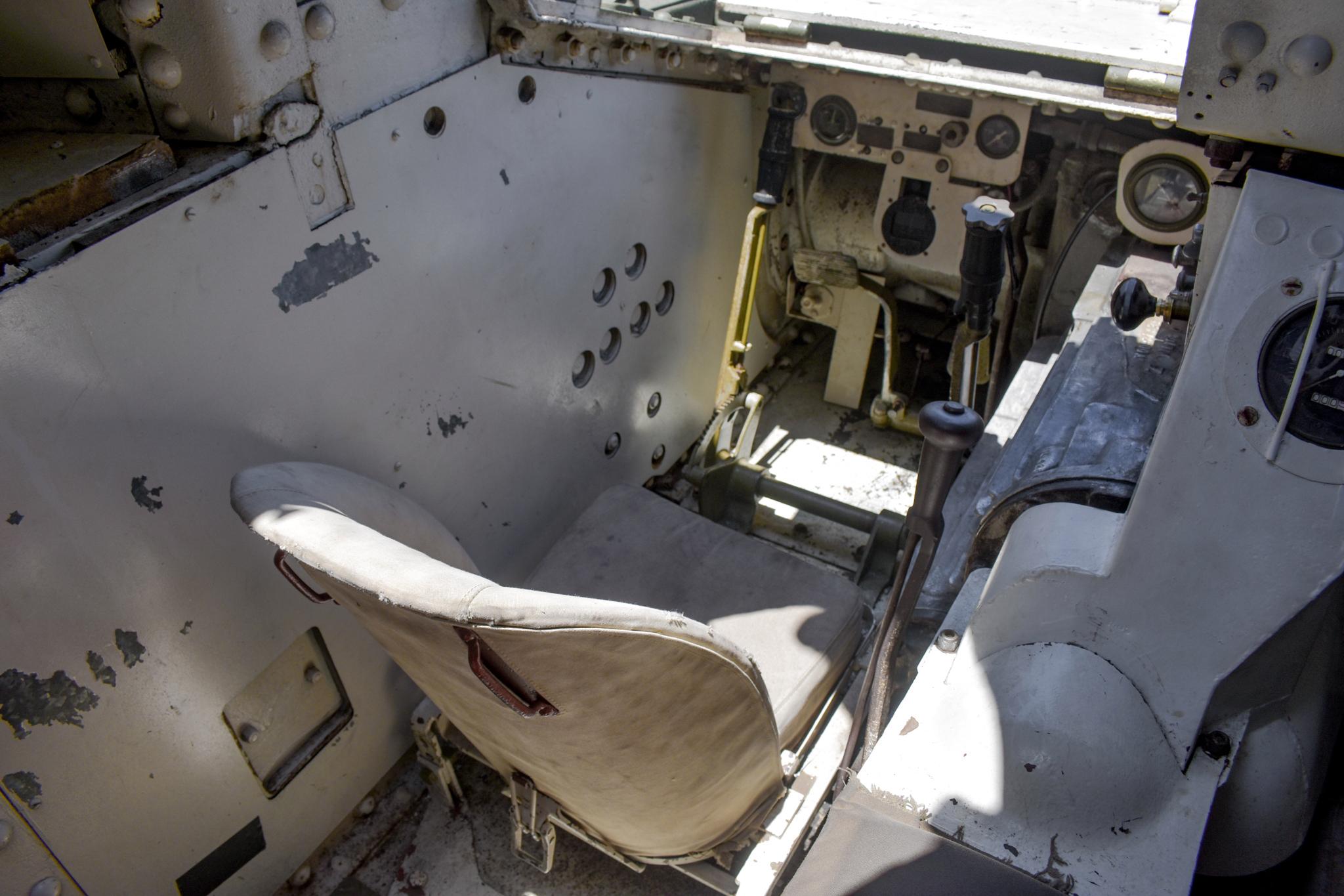 1941 M3 Stuart Tank cockpit