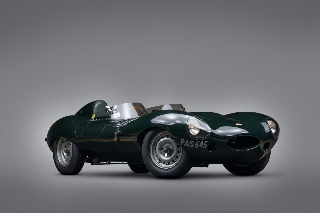 jaguar d-type front three-quarter