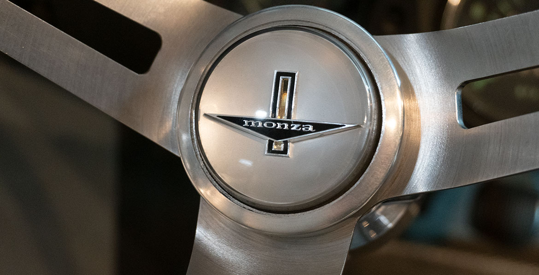 Chevrolet Corvair Monza GT steering wheel detail
