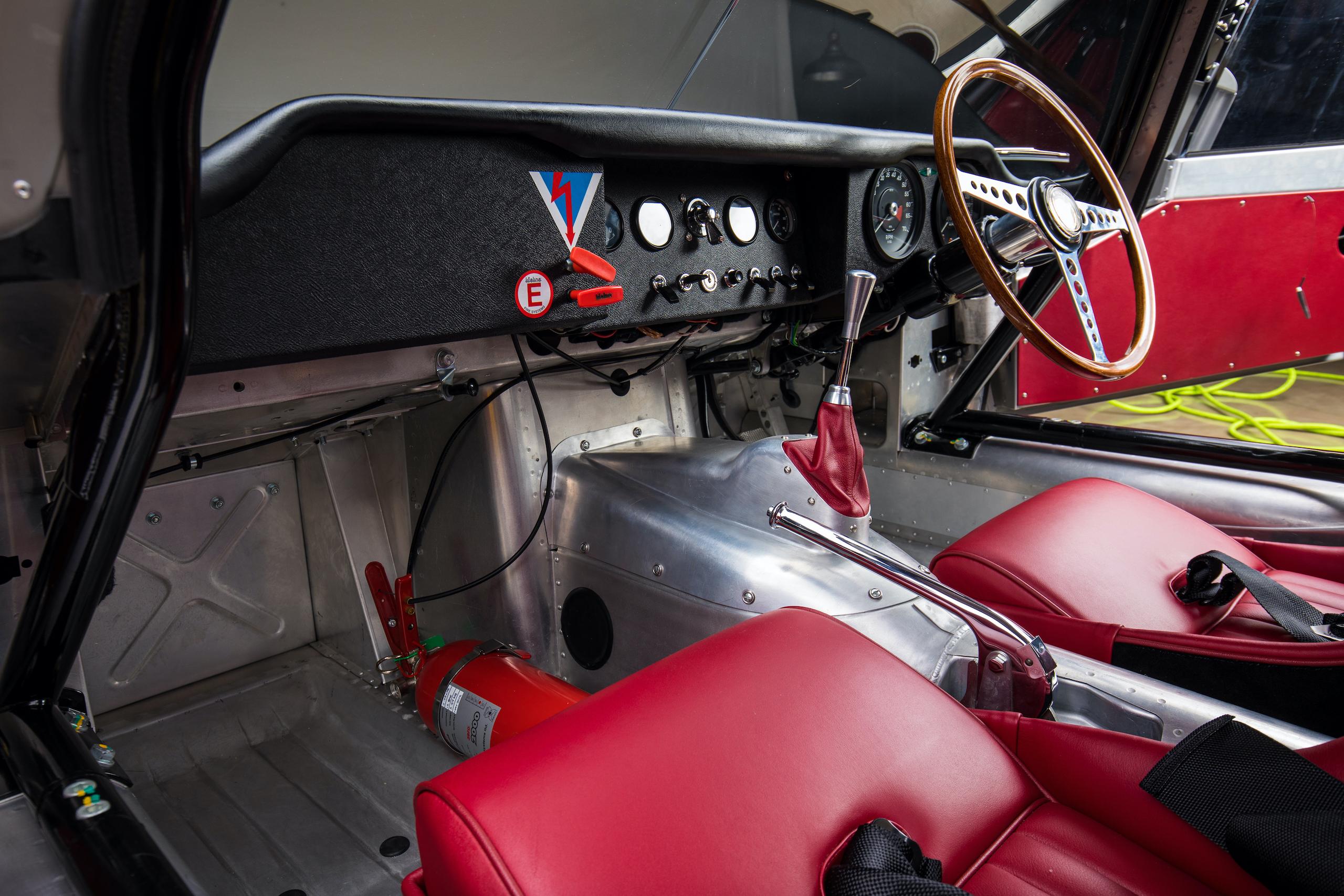 jaguar e-type lightweight continuation interior