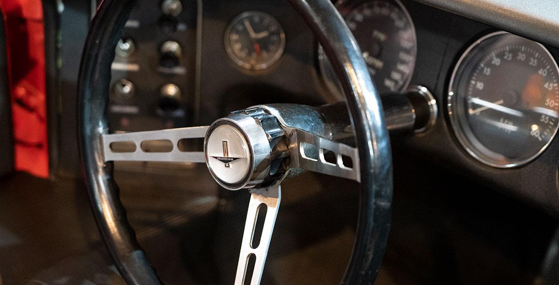 Chevrolet Corvair Monza SS interior steering wheel