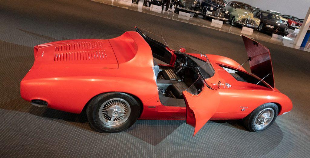 Chevrolet Corvair Monza SS elevated doors front open