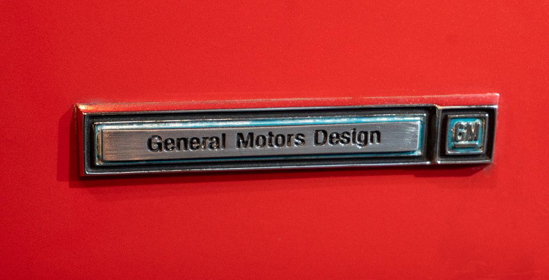 Chevrolet Corvair Monza SS gm design badge