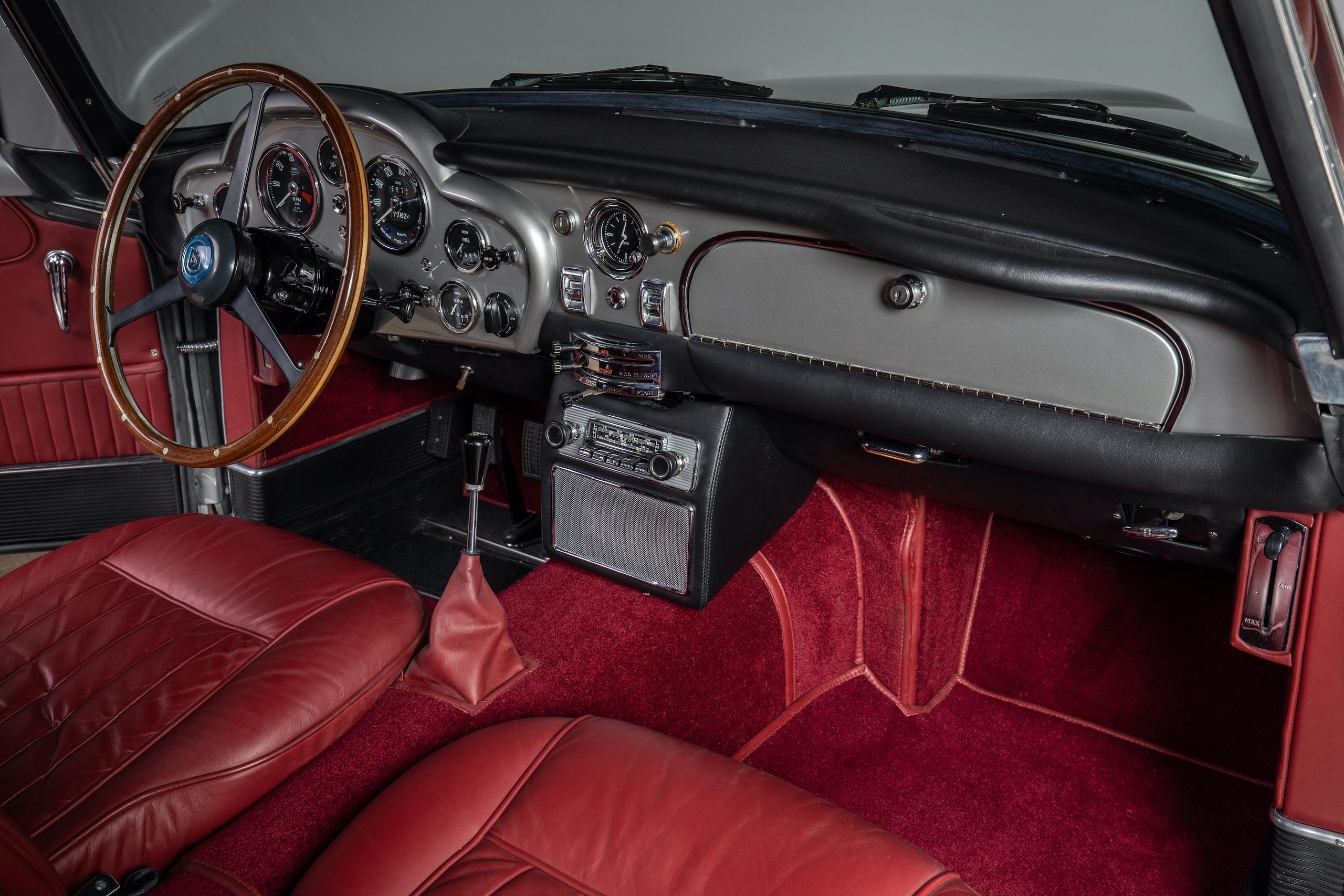 aston martin db5 convertible interior