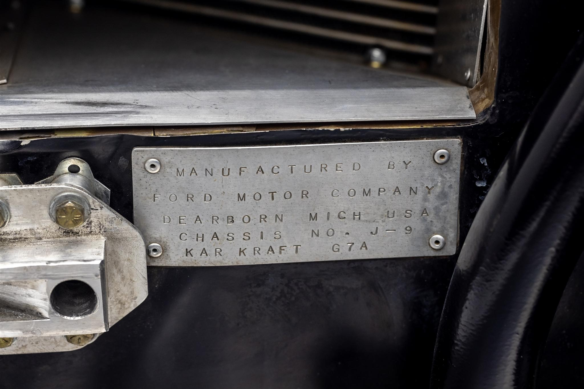 1967 Ford GT40 MK IV chassis plaque