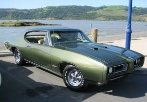 1968 Pontiac GTO - full from passenger side / green