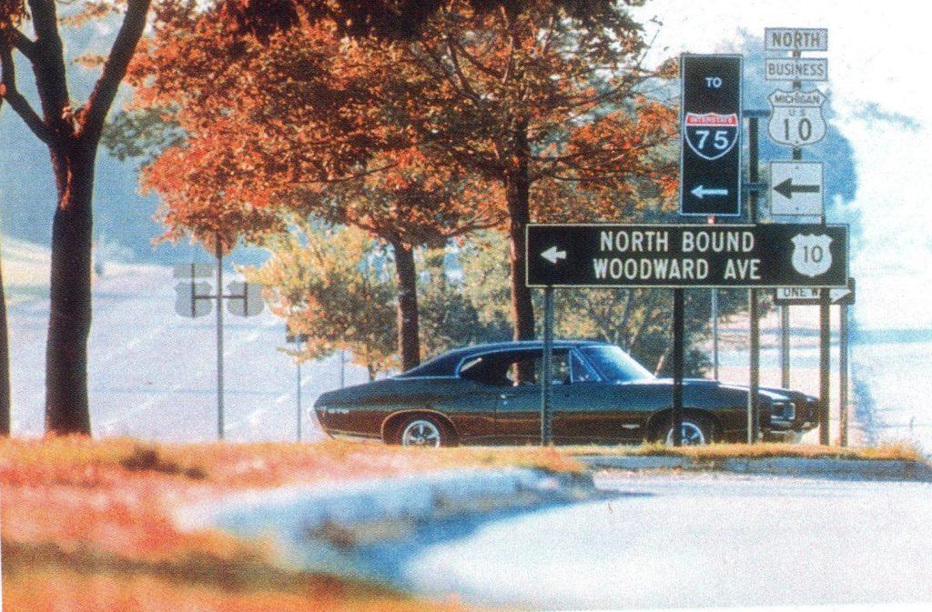 1968 Pontiac GTO Woodward ad - original pic