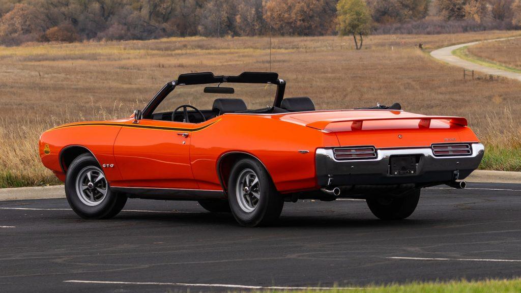 1969 Pontiac GTO Judge Convertible rear three-quarter