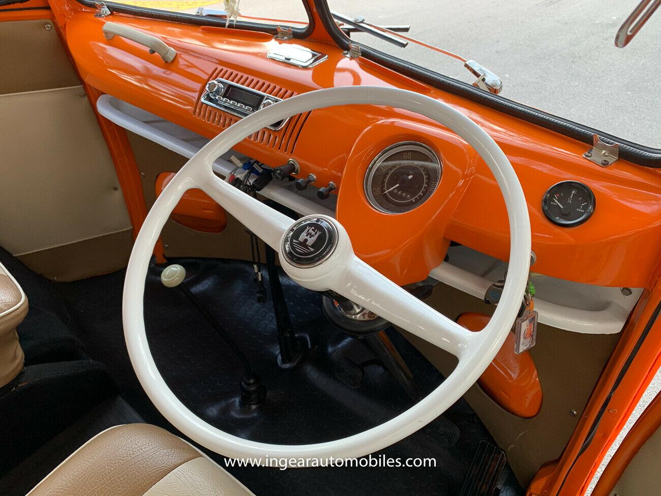 Volkswagen Bus Camper VW interior steering wheel