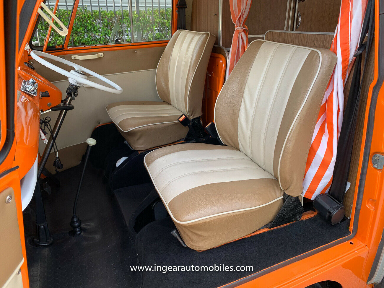 Volkswagen Bus Camper VW front seats