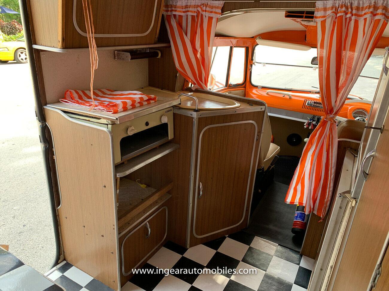 Volkswagen Bus Camper VW interior kitchen