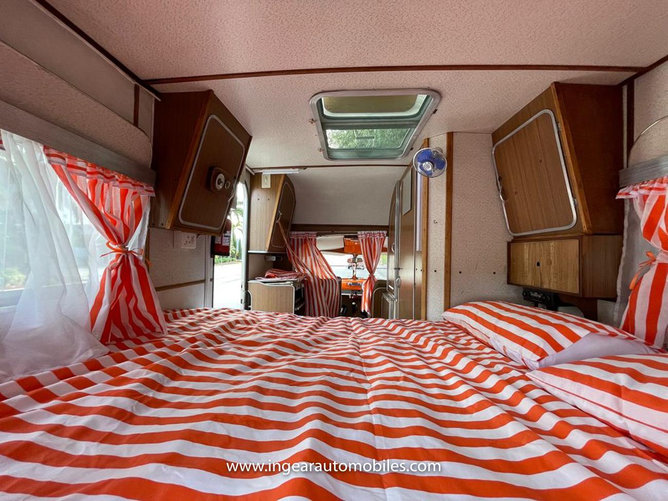 Volkswagen Bus Camper VW interior bedding