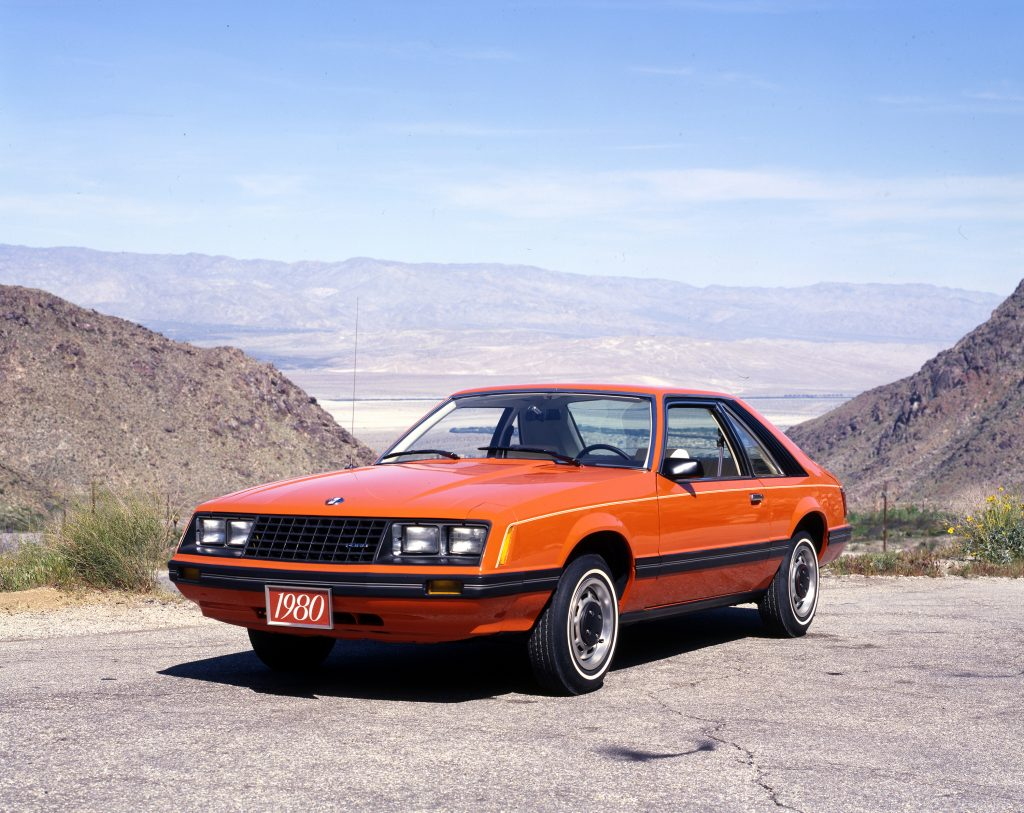 1980 Orange Mustang front three-quarter