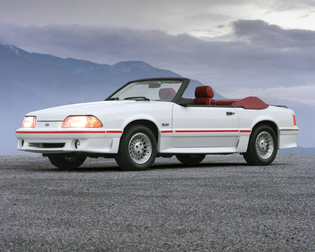 1987 Ford Mustang GT convertible front three-quarter
