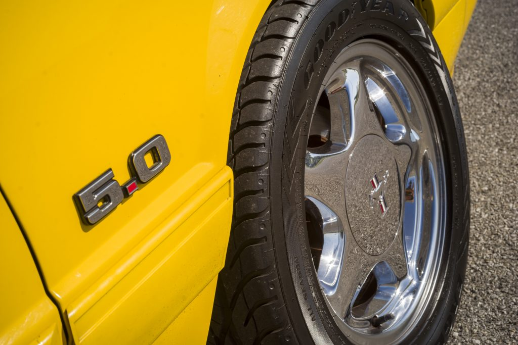 1993 Ford Mustang LX badge and wheel