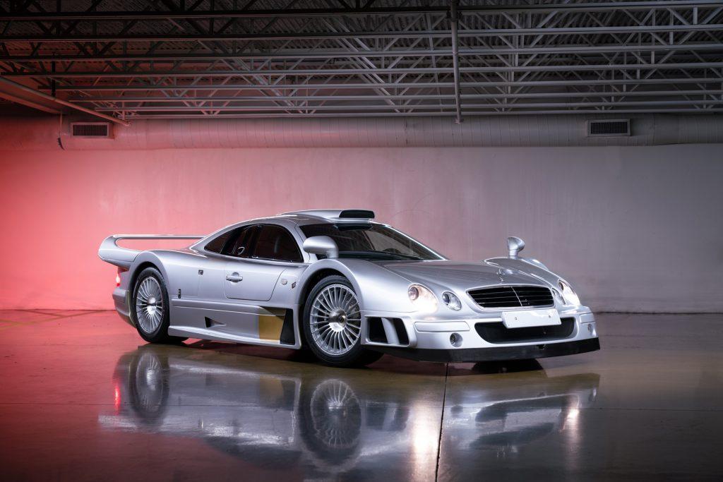 1998 Mercedes-Benz AMG CLK GTR front three-quarter studio
