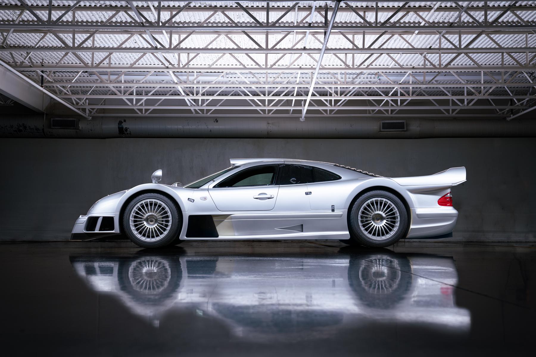 1998 Mercedes-Benz AMG CLK GTR side profile studio