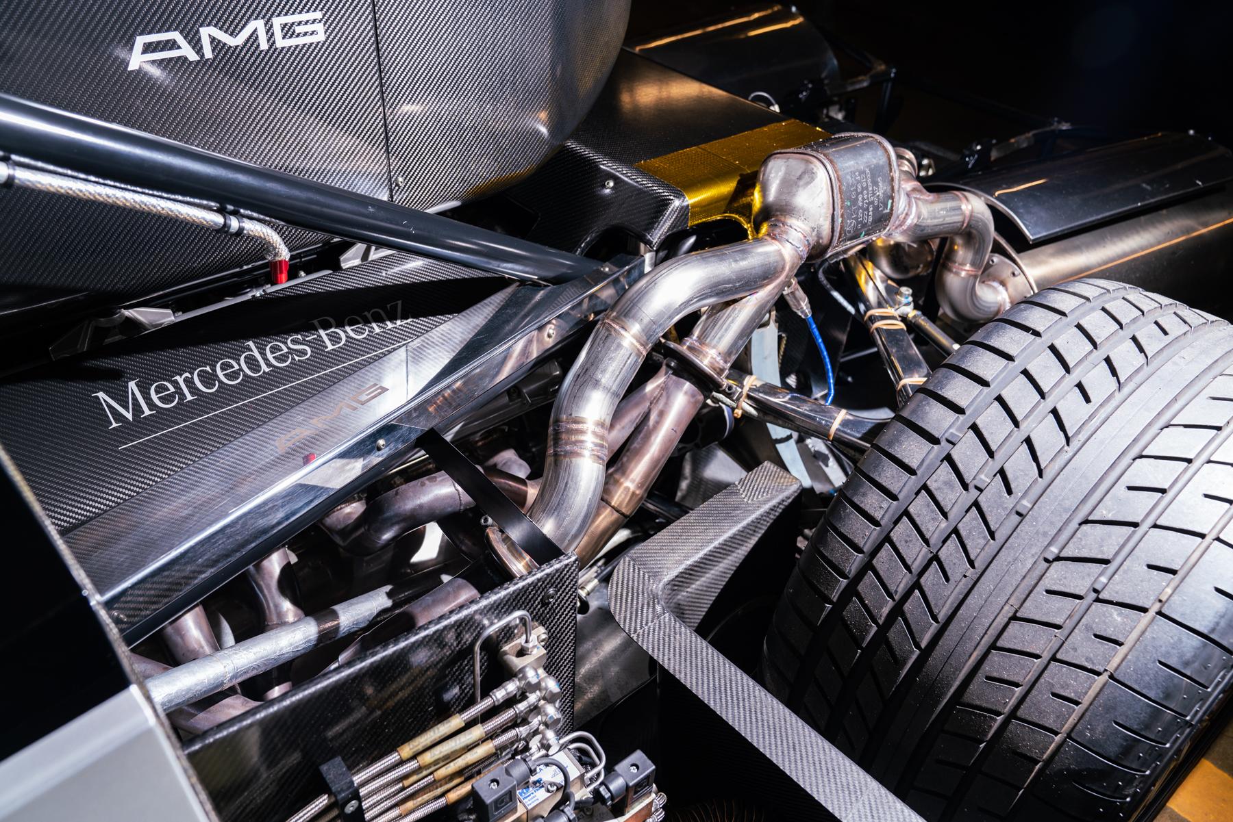 1998 Mercedes-Benz AMG CLK GTR engine exhaust detail