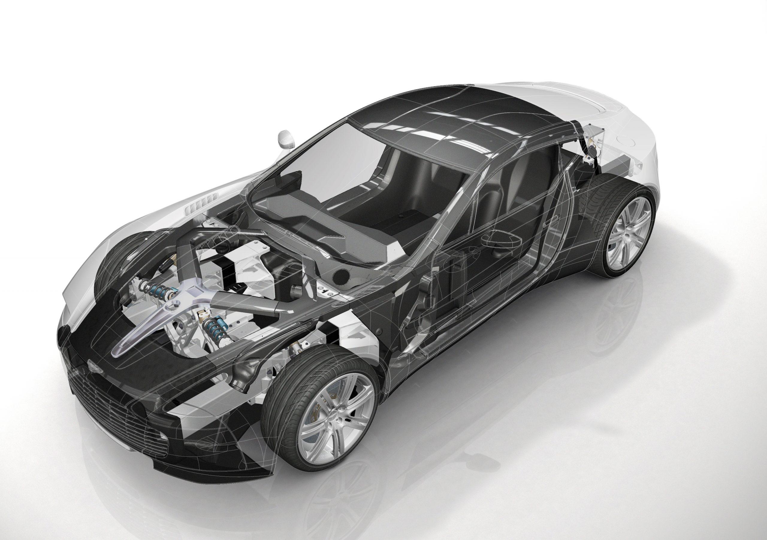 2010-2012 One-77 cutaway