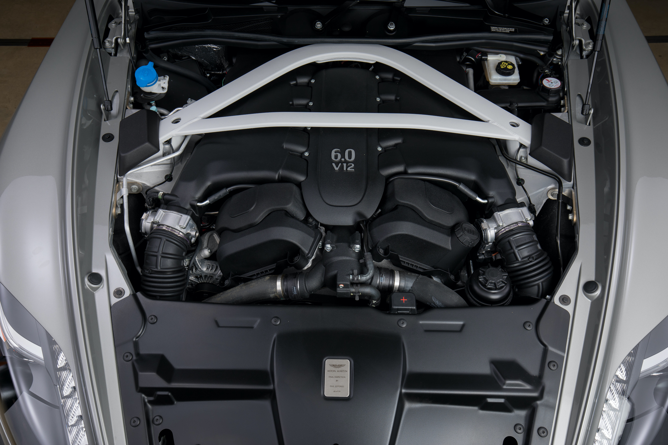 aston martin vanquish zagato coupe engine bay