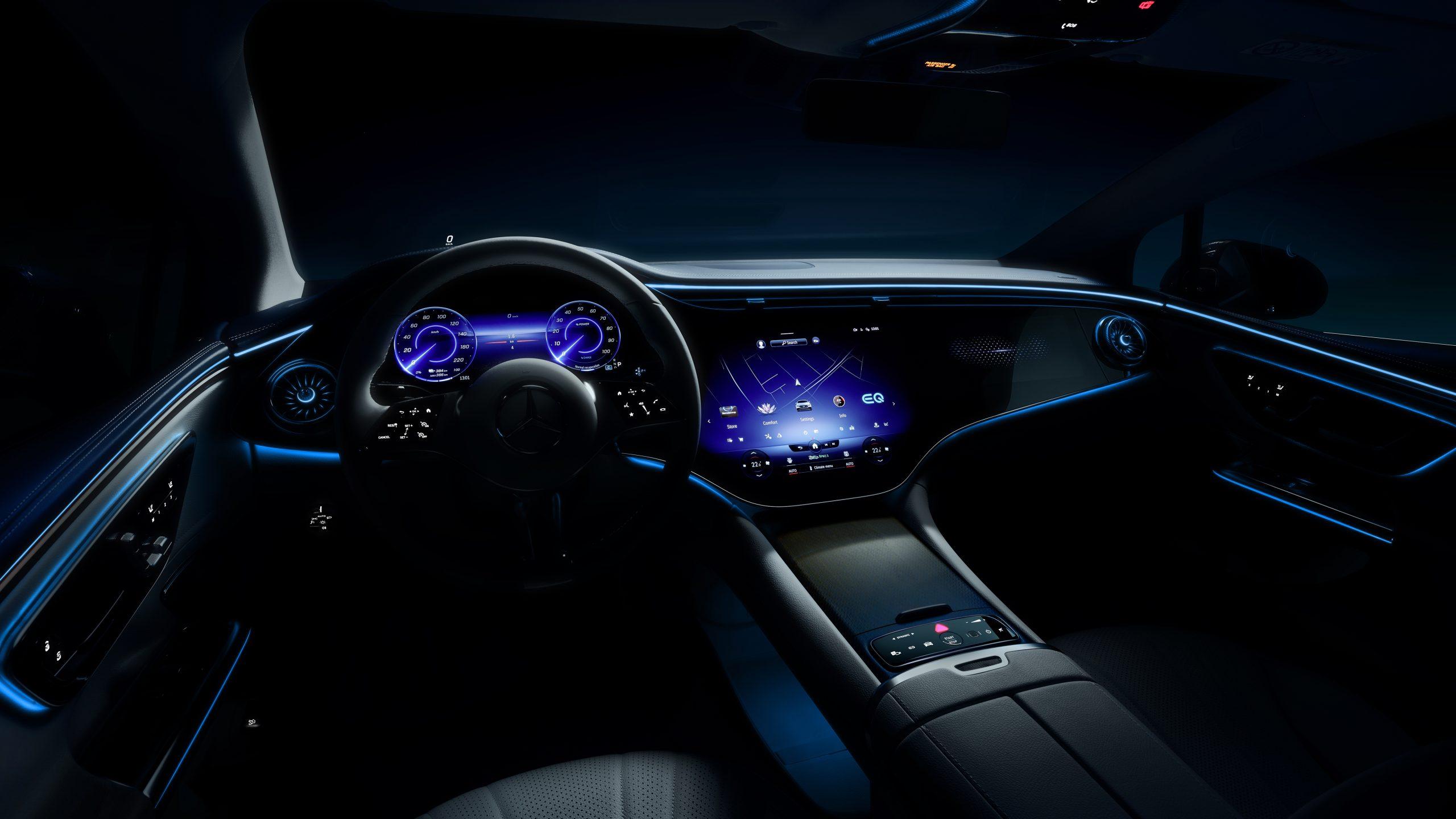 EQE by Mercedes-Benz teaser interior hyperscreen