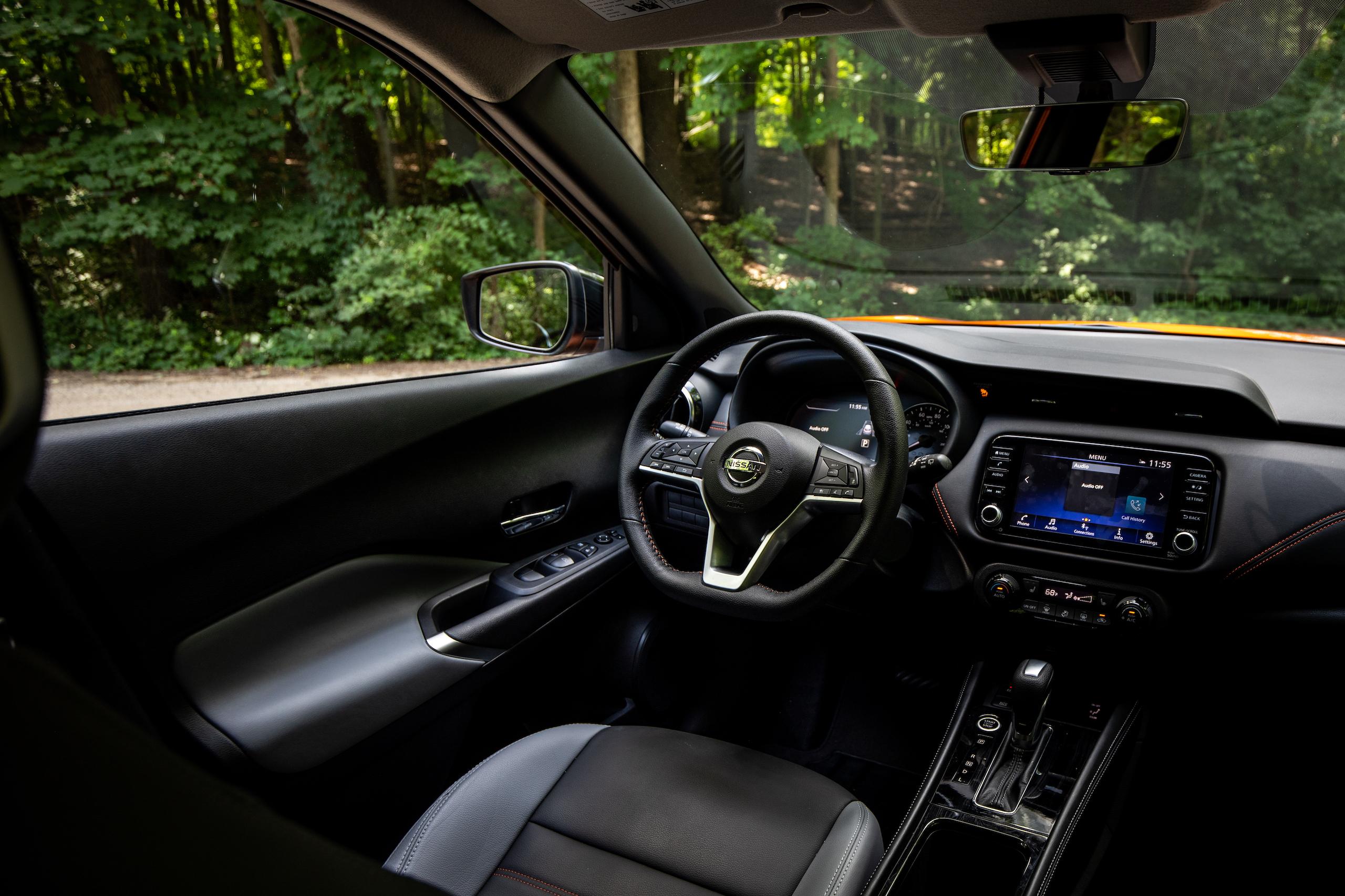 Nissan Kicks interior driver seat