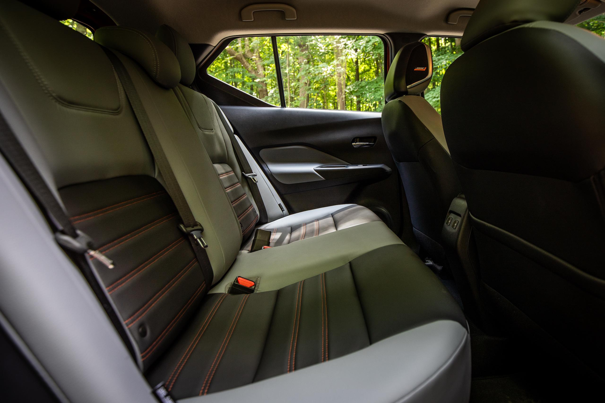 Nissan Kicks rear seat