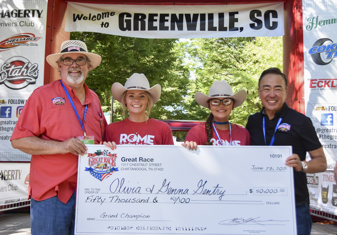 Gentry with grand champion check