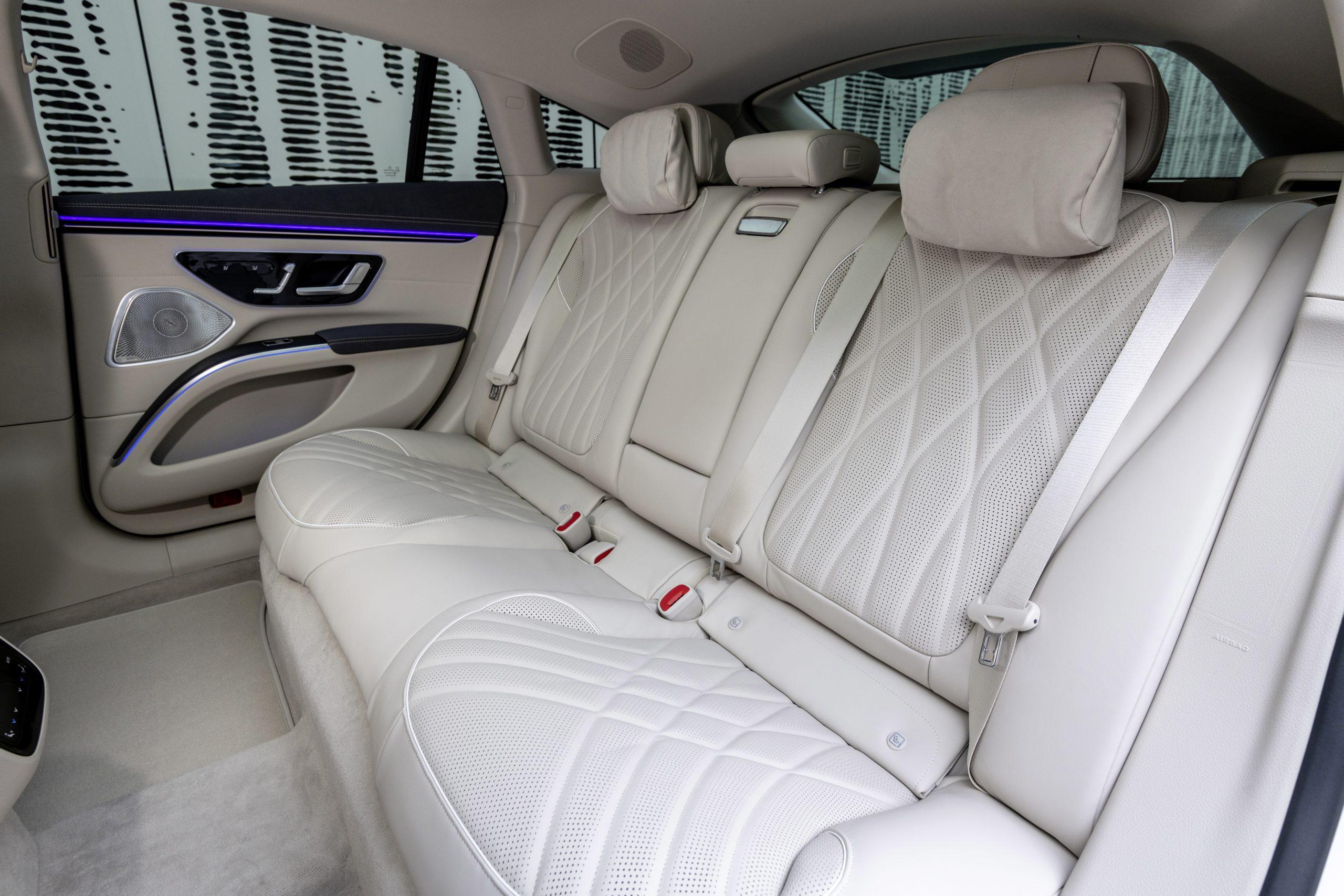 2022 EQS 580 4MATIC Sedan (Euro spec) rear seats