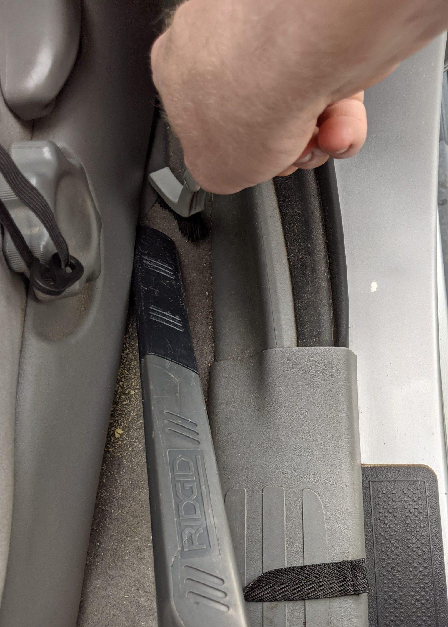 Car Odor Treatment brushing detail