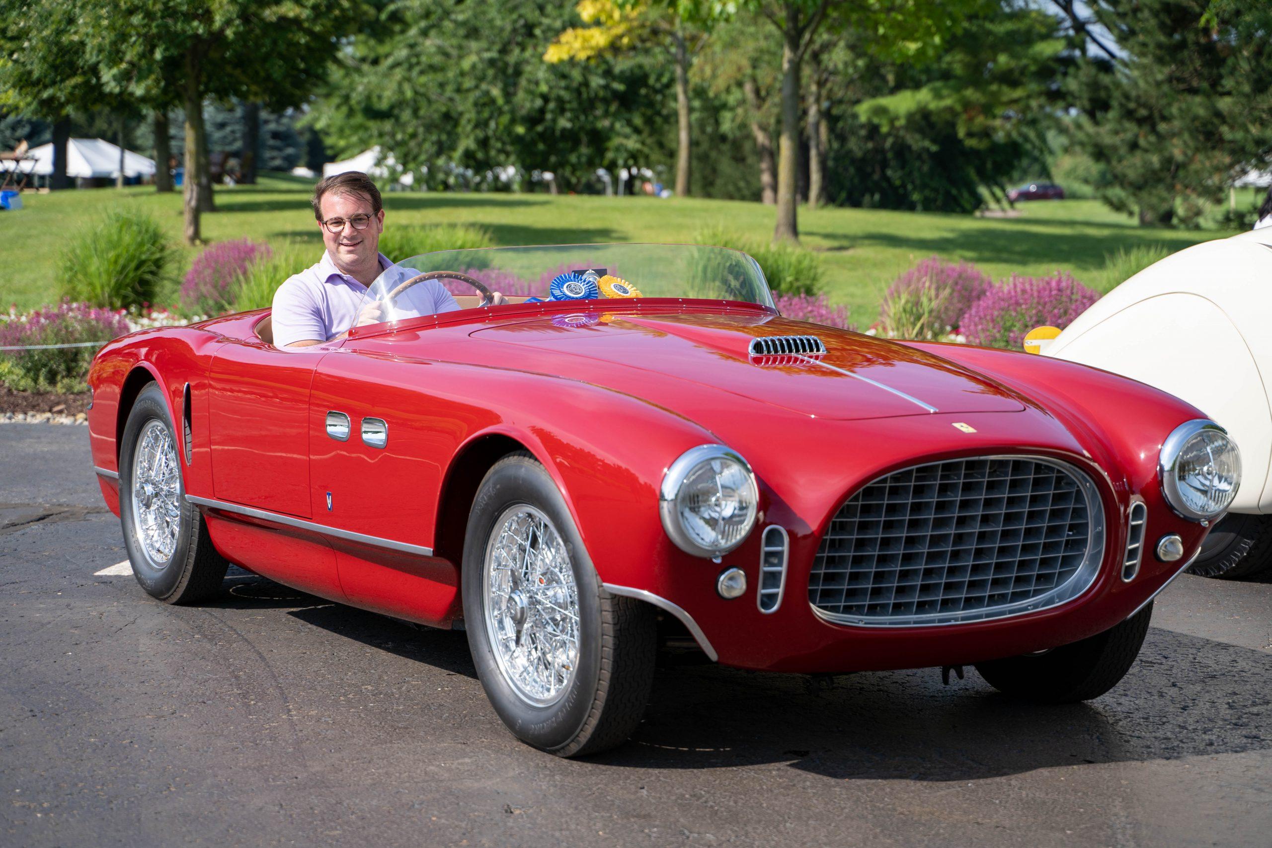 2021 COA Best of Show 1953 Ferrari 250MM and owner