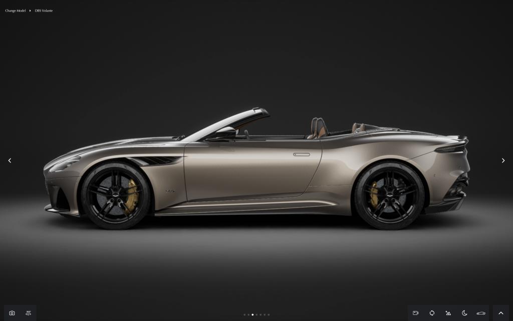 Aston Martin DBS in online configurator