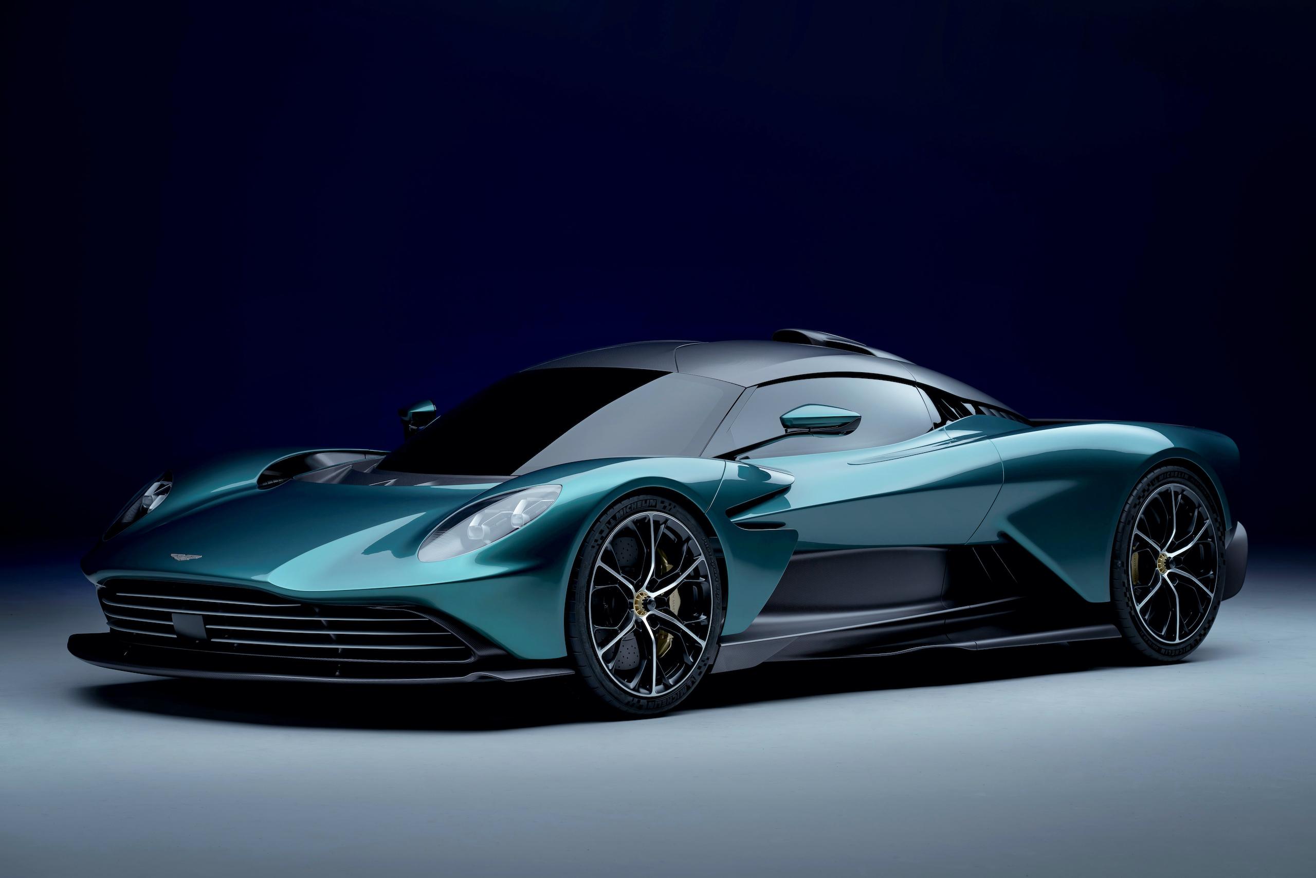 Aston Martin Valhalla front three-quarter