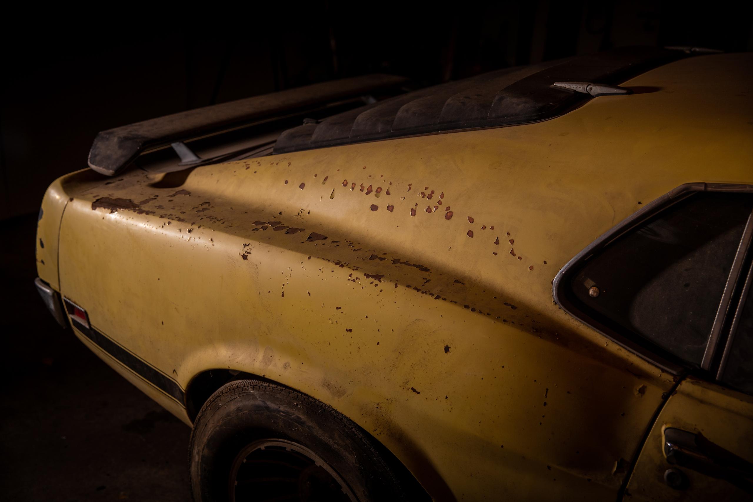 Boss Mustang connection rear quarter panel rust
