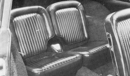 4-Seater 1963 Split Window Coupe Prototype rear seat