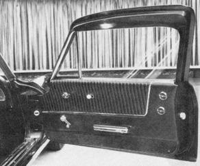 4-Seater 1963 Split Window Coupe Prototype door panel