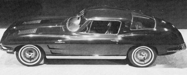 4-Seater 1963 Split Window Coupe Prototype side profile overhead