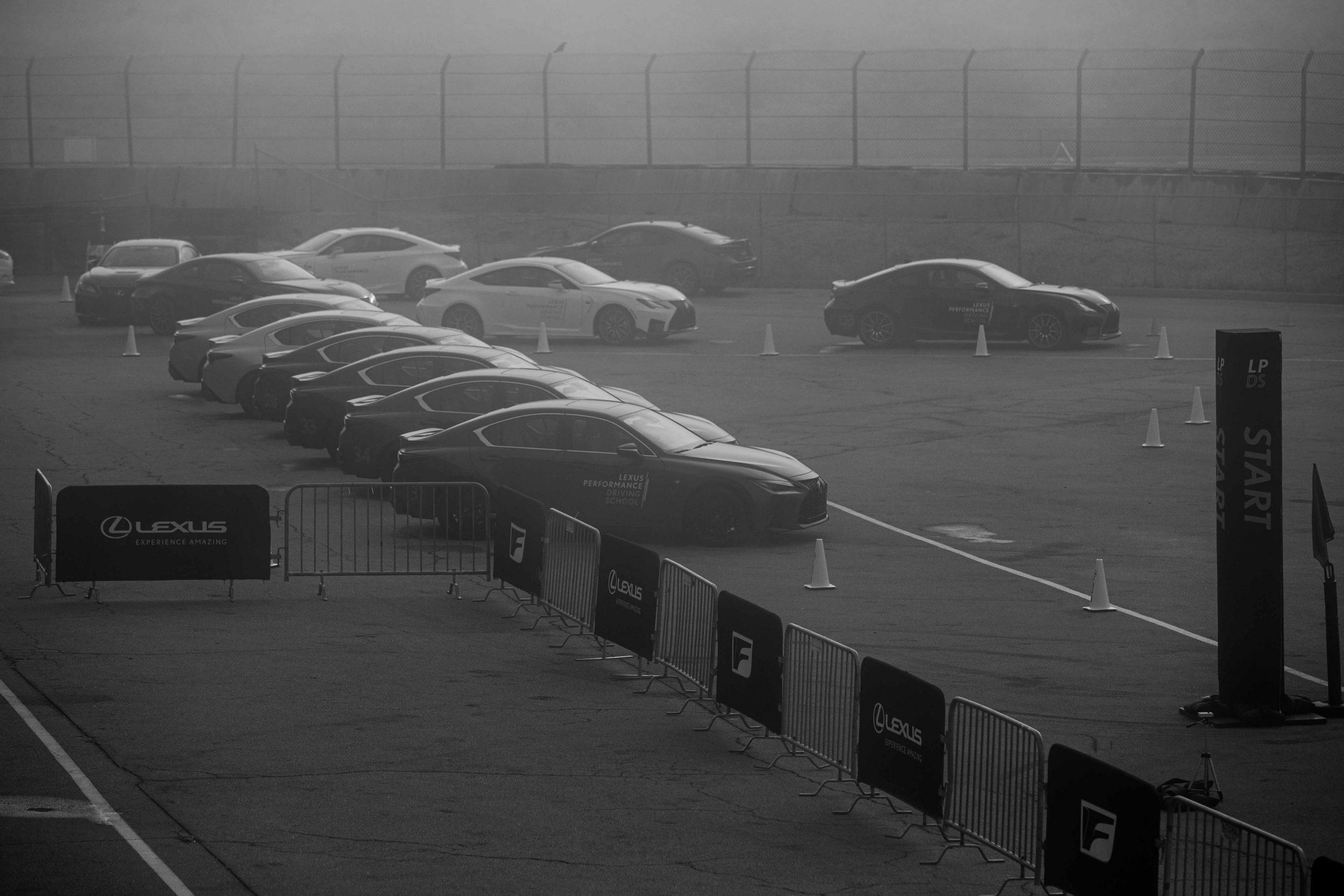 foggy Lexus Performance Driving School June 2021 Laguna Seca
