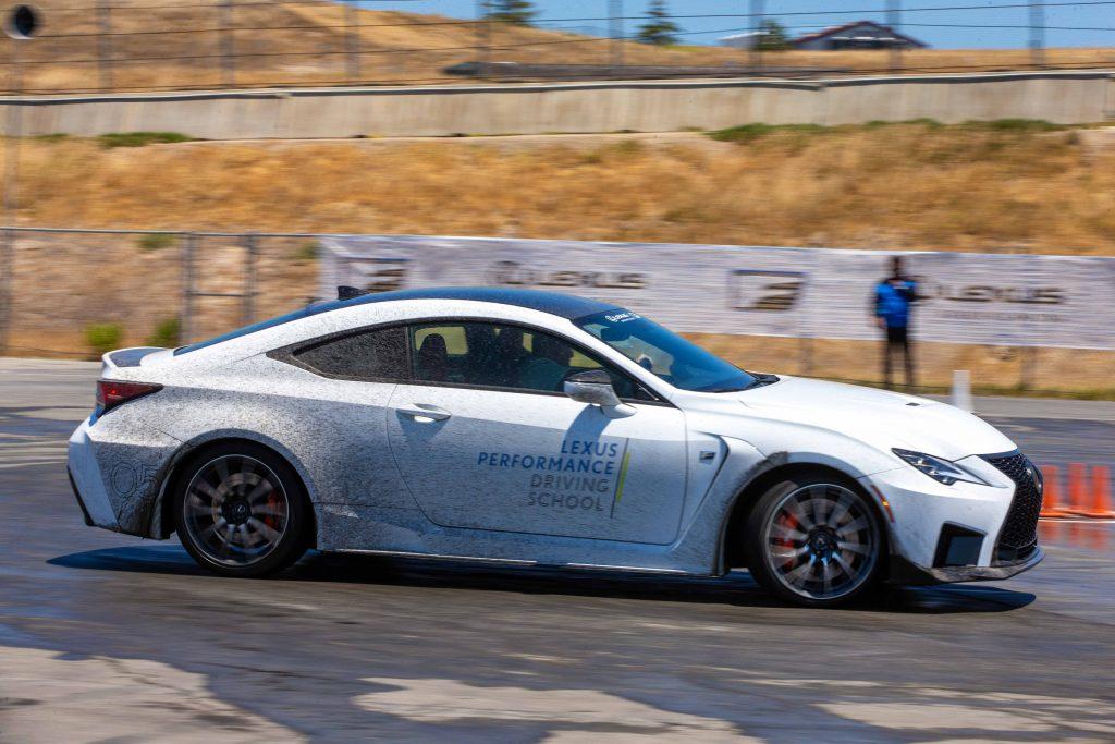 skid pad Lexus Performance Driving School June 2021 Laguna Seca