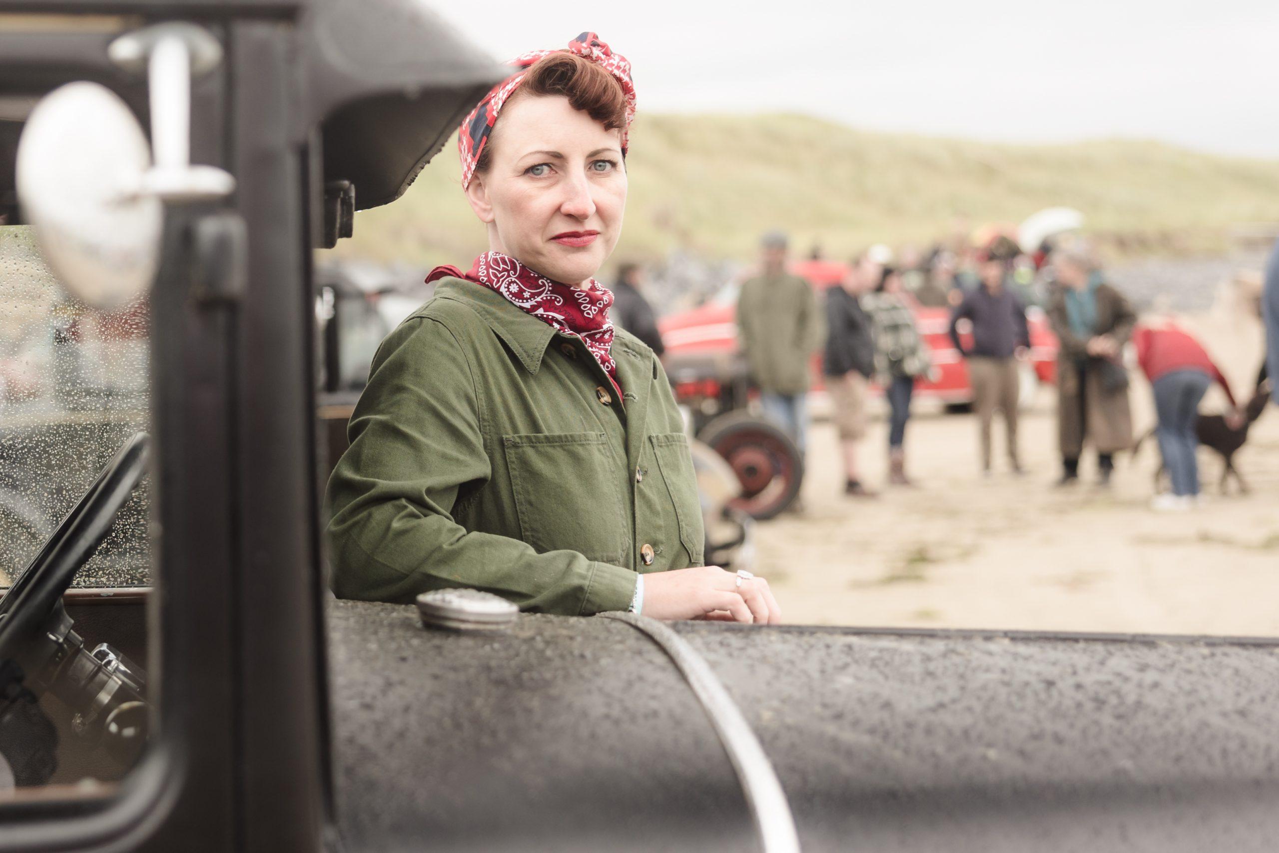 Pendine Sands driver portrait