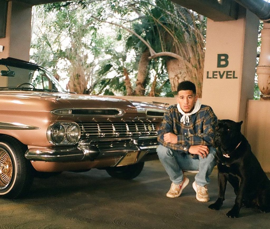 Devin Booker Impala Penny and Pet Dog