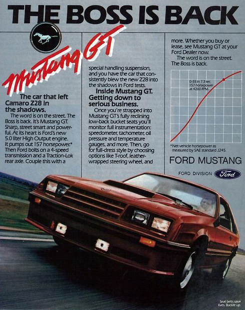 Ford Mustang GT Boss is Back Campaign