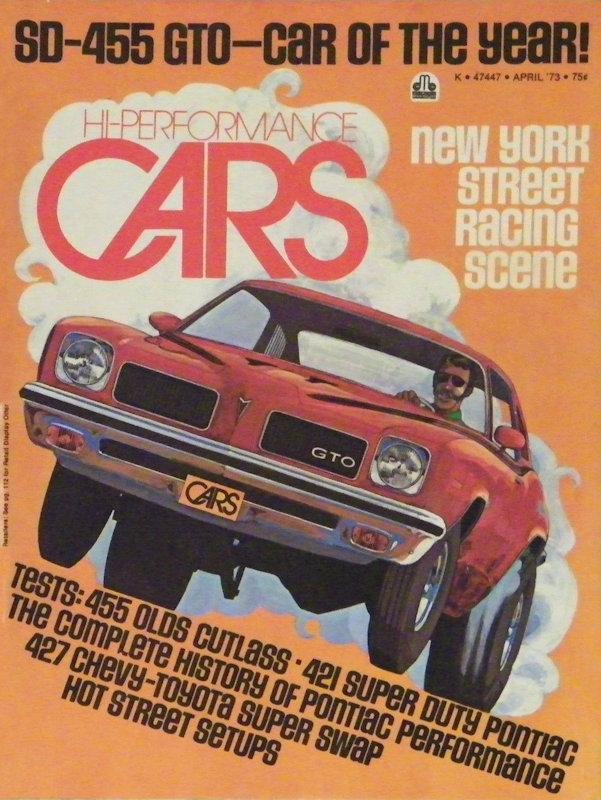 GTO Magazine Cover 1973 April