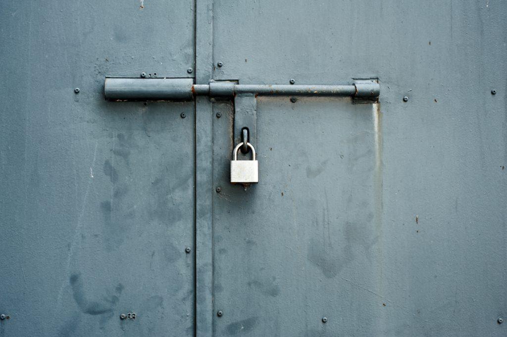 metal door padlock
